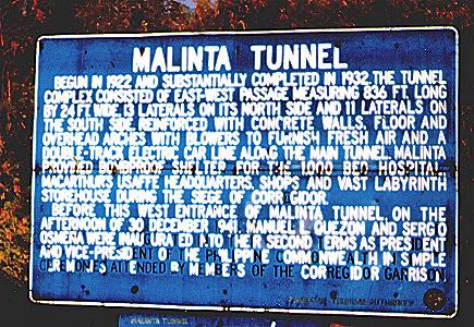 [Malinta Tunnel sign, Corregidor]